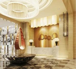 140平米混搭风格宾馆室内背景墙装修效果图