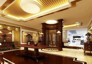 200平米混搭宾馆室内隔断设计装修效果图实例