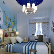 儿童房蓝色海洋吊灯效果图