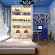 儿童房床柜一体效果图