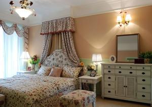 现代美式田园风格卧室装修效果图