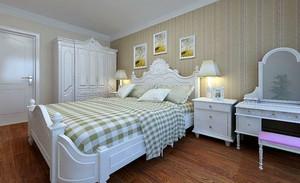 现代田园风格温馨卧室装修效果图