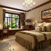 欧式田园风格卧室装修效果图
