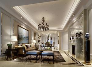 现代简欧风格精致客厅装修效果图