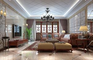 创新美式风格精致客厅装修效果图赏析