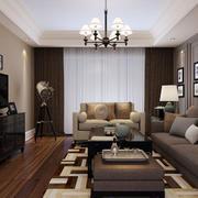 现代简约风格精致客厅装修效果图