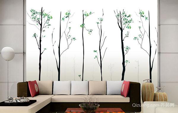 时尚混搭风格客厅背景墙装修效果图