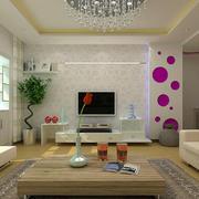 都市轻松时尚客厅电视背景墙装修效果图