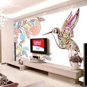 中式风格都市时尚客厅电视背景墙效果图