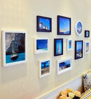 简约时尚客厅照片墙装修效果图