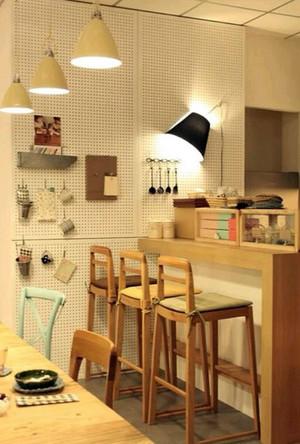 后现代风格餐厅吧台装修效果图