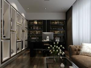 欧式风格别墅精致书房装修效果图