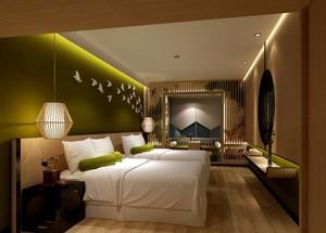 90平米宜家风格宾馆飘窗装修效果图欣赏