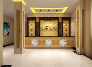 200平米宜家宾馆大厅吊顶装修效果图欣赏