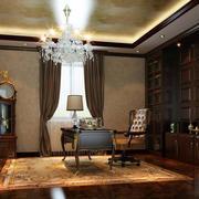 100平米大户型欧式书房室内设计装修效果图