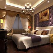 时尚精致卧室吊灯装修效果图