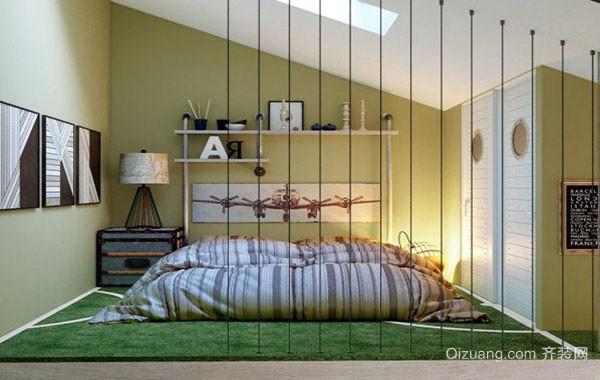 现代时尚简约榻榻米床装修效果图