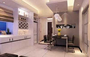 100平米三居室现代时尚简约餐厅装修效果图