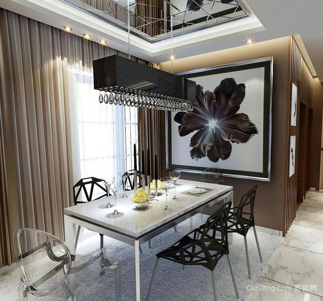 2016年全新款现代简约风格创意餐厅吊灯装修效果图