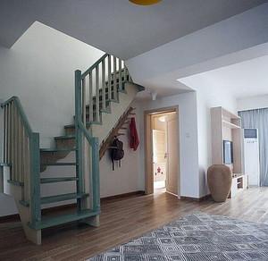 现代简约别墅型精致楼梯室内装修效果图