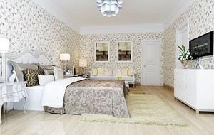 现代田园风格卧室装修效果图
