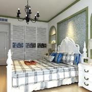 田园风格卧室背景墙装修效果图
