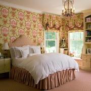 自然朴素卧室窗帘装修