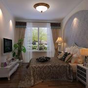 时尚简约田园风格卧室整体设计