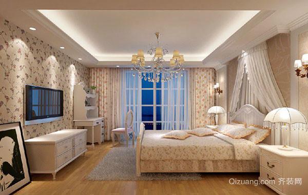 现代美式田园风格卧室装修效果图赏析