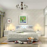现代简约自然风格卧室装修效果图