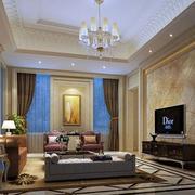 欧式客厅整体效果图