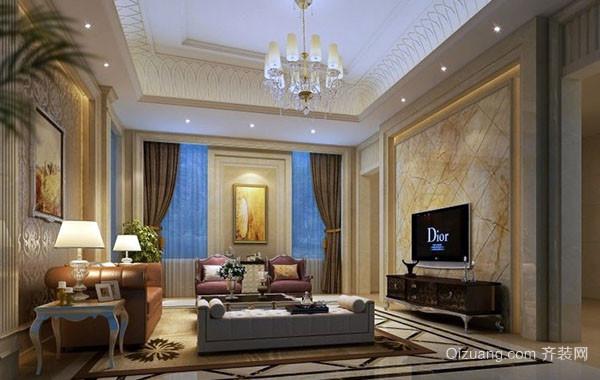 经典别墅型欧式风格客厅装修效果图