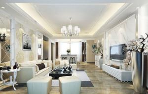 简欧风格时尚精致客厅装修效果图