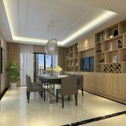 100平米欧式风格室内酒柜装修效果图