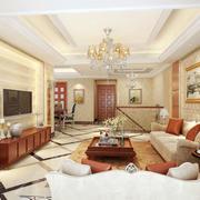 别墅型简欧风格客厅装修效果图