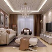时尚简欧风格客厅效果图