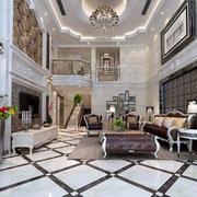 复式小楼欧式风格精致客厅装修效果图