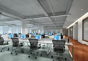 150平米精致办公室室内吊顶装修效果图