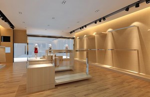 98平米中型精致的服装店飘窗装修效果图