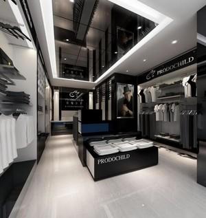 145平米大型精致服装店室内背景墙装修效果图