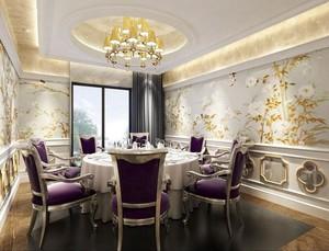 115平米精致时尚的餐厅飘窗装修效果图