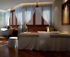 60平米温馨精致美容院室内窗帘装修效果图