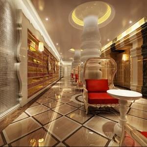 60平米精致的现代宾馆大厅吊顶装修效果图