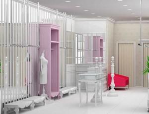 200平米自然的服装店室内隔断装修效果图