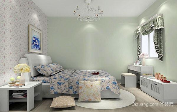田园风格大户型卧室装修效果图实例