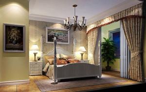 现代田园风格简约卧室装修效果图