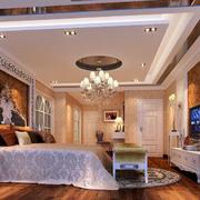 欧式风格奢华大气卧室装修效果图