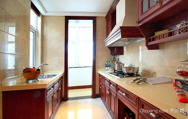 美式风格精致大户型厨房装修案例