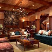 美式古典风格客厅装修效果图