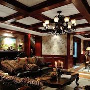 精致复古美式客厅装修